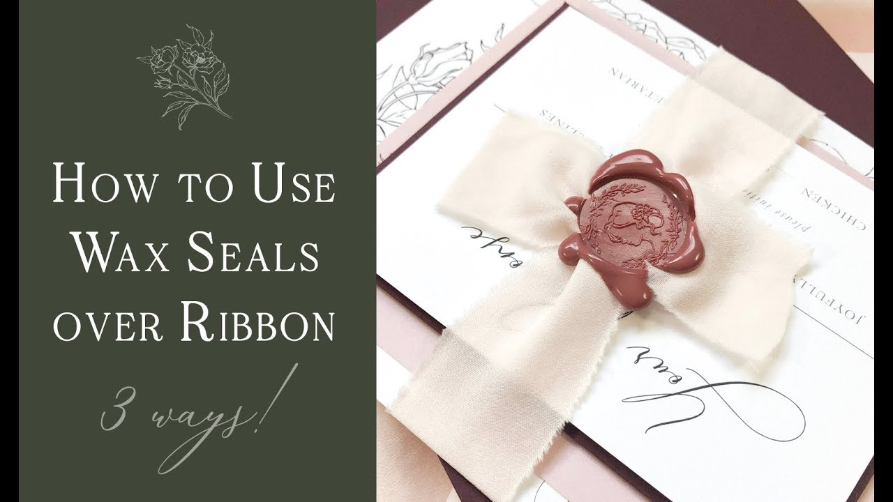 How To Use Wax Seals On A Ribbon Belly Band 3 Techniques