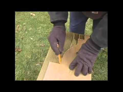 How To Build A Pergola 8 Trace Pattern To Beams Pergola