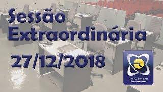 Sessão extraordinária 27/12/2018