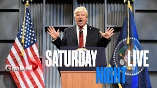 SNL - Alec Baldwin's Trump Tells Mike Pence to Flee NFL Game and Starbucks in Hilarious Skit