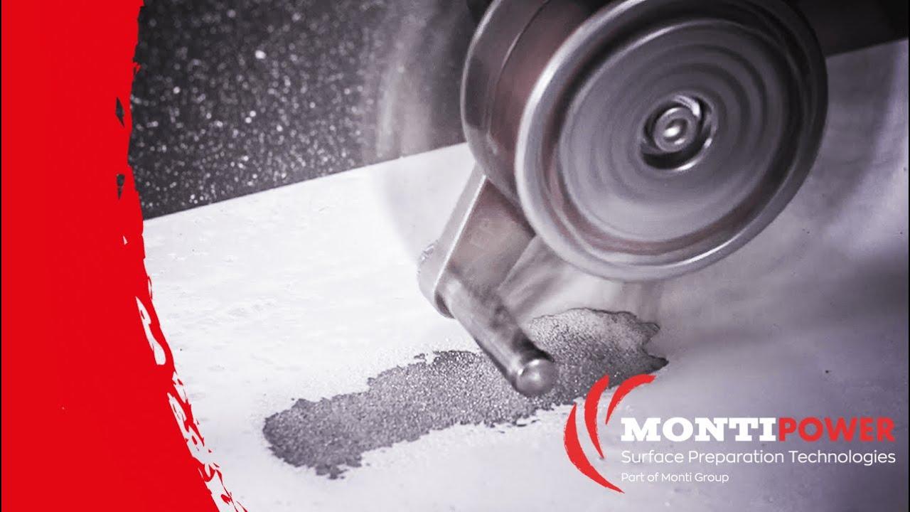 Remove Epoxy Coating from Construction Steel   MONTI Bristle Blaster
