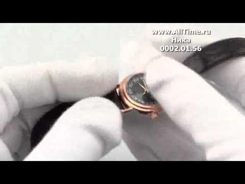 Женские наручные золотые часы Ника 0002.0.1.56
