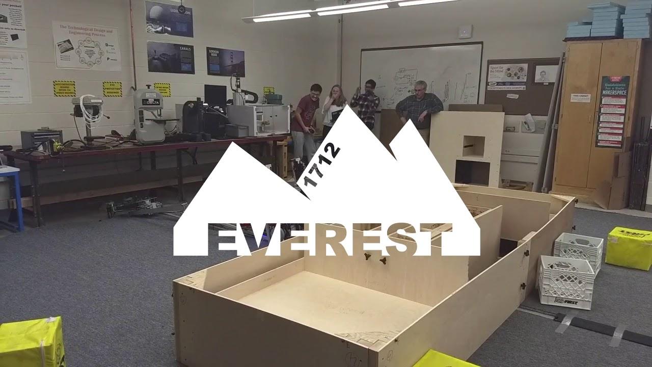 FRC TEAM 1712 - 2018 Robot Teaser: Everest - YouTube
