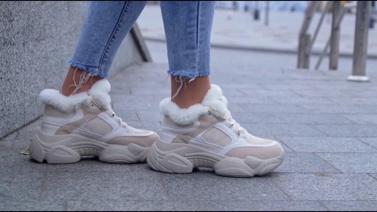 Замшевые зимние кроссовки с мехом Caruso Shoes (19-00747)