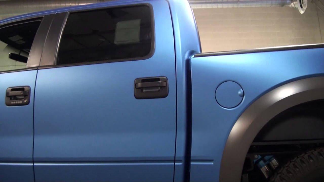 3m full vinyl color change 2014 ford raptor blue metallic youtube 3m full vinyl color change 2014 ford raptor blue metallic voltagebd Images