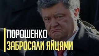 Срочно! На майдане Порошенко забросали яйцами. Что известно?