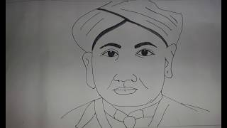 How to draw Sir C V Raman drawing for kids | Nobel Prize Winner Indian Scientist | सी.वी. रमन