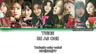 [1.33 MB] TWICE - Be as ONE (Korean Version) (Tradução Color Coded HAN|ROM|PT)