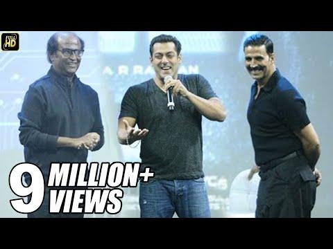 Salman Khan At Robot 2.0 First Look Launch Full Video HD - Rajinikanth, Akshay Kumar