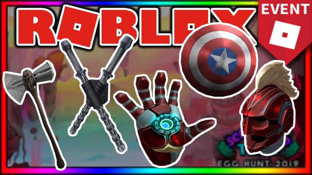 Event How To Get All The Avengers End Game Items Roblox Egg Hunt 2019 Scrambled In Time - avengers endgame roblox event