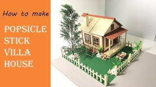 popsicle stick house tutorial videos, popsicle stick house