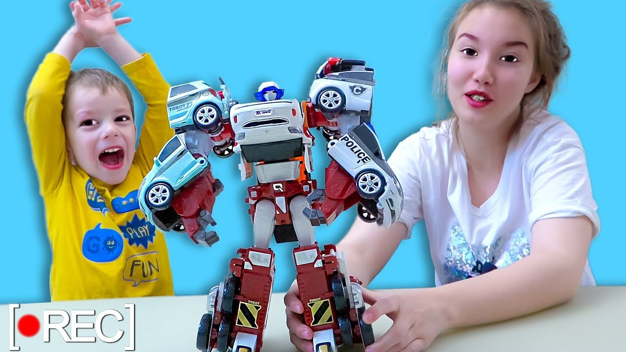 Света и Богдан СНИМАЮТ ВЛОГ Super Kids Baby TOBOT QUATRAN For Children