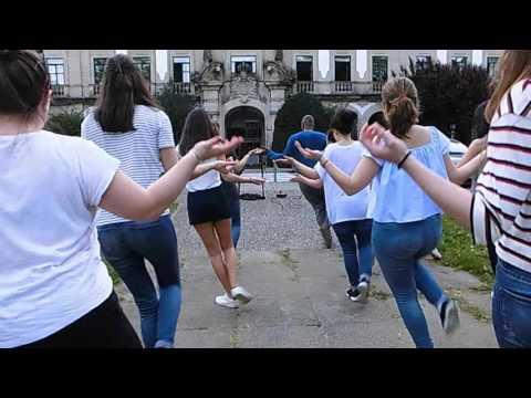 Salsa. Clase en la calle. Universidad de Santiago de Compostela. 2016