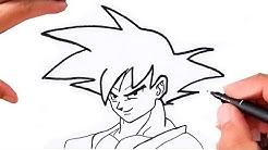 Como Desenhar o GOKU   SUPER  FÁCIL   DRAGON BALL Z