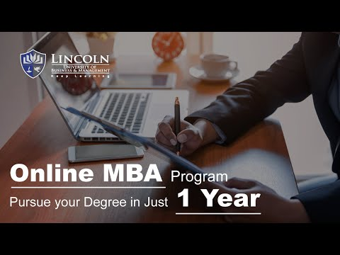 1 Year MBA | MBA Courses | Online MBA Program Dubai, UAE | LUBM