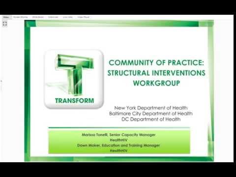 Community  of Practice: Structural Interventions Workgroup
