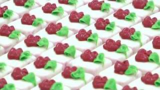 Making The Swiss Colony Red Velvet Petits Fours