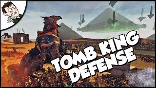 Tomb King v Vampire Counts Invasion Defense - Total War WARHAMMER Mod Gameplay