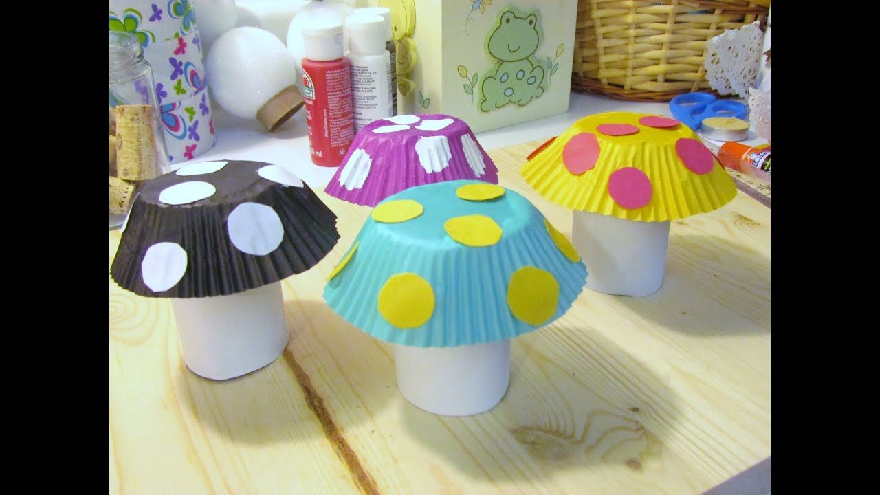 How To Make A Mushroom Craft From Toilet Paper Tubes
