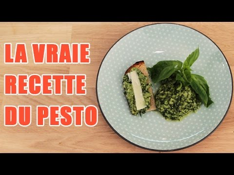 recette sauce pesto au basilic pour vos p tes youtube. Black Bedroom Furniture Sets. Home Design Ideas