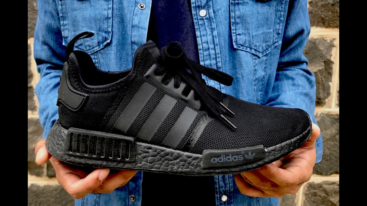 b08e4b785ca74 ... NMD Triple Black On feet look - YouTube  Adidas ...
