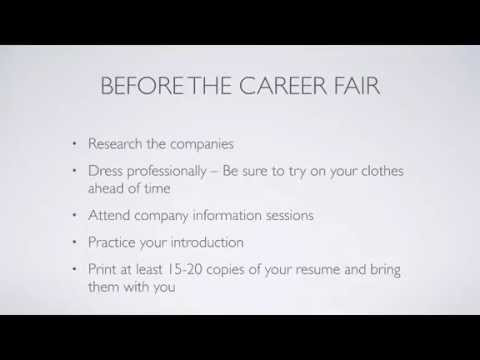 Introduction to Co-op - Career Fair (University of Cincinnati)
