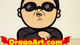 How To Draw Gangnam Style, Draw Psy From Oppa Gangnam Style, Step by Step