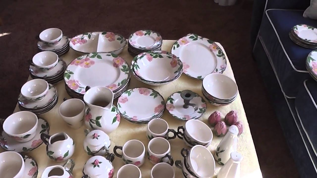 Sold 67 Piece Franciscan Desert Rose China Dinnerware Set + Extra Pieces eBay #111045942695 - YouTube & Sold 67 Piece Franciscan Desert Rose China Dinnerware Set + Extra ...