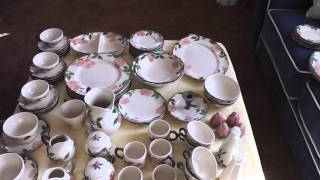 Sold 67 Piece Franciscan Desert Rose China Dinnerware Set + Extra Pieces eBay #111045942695
