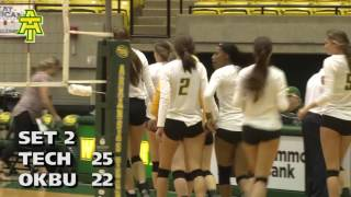 Tech Volleyball vs. Oklahoma Baptist Highlights - 10/21/16