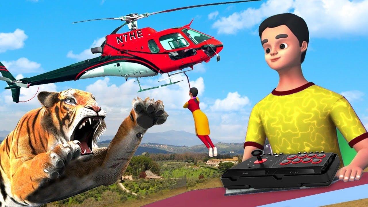 ಸಣ್ಣ ಹೆಲಿಕಾಪ್ಟರ್ - Small Helicopter Story | 3D Animated Kannada Moral Stories | Maa Maa TV