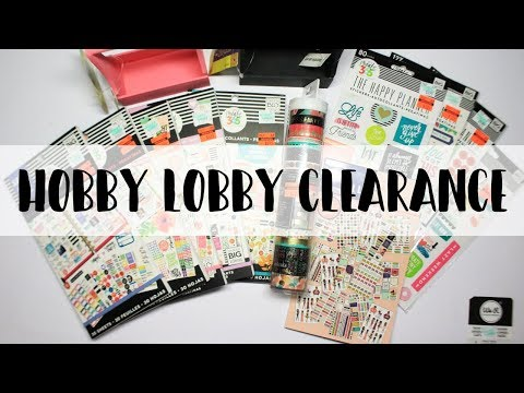 CLEARANCE $4.99 HAPPY PLANNER STICKER BOOKS AT HOBBY LOBBY
