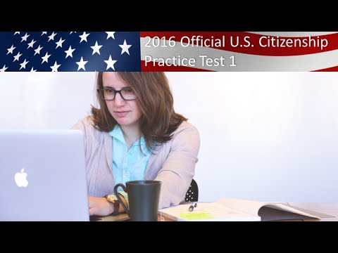 U.S. Citizenship Practice Test 1