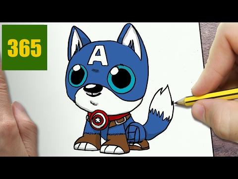 Comment dessiner chien captain america kawaii tape par tape dessins kawaii facile - Comment dessiner captain america ...