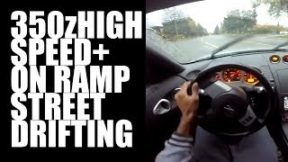 Street Rain drift High Speed On ramps 350z drifting z33