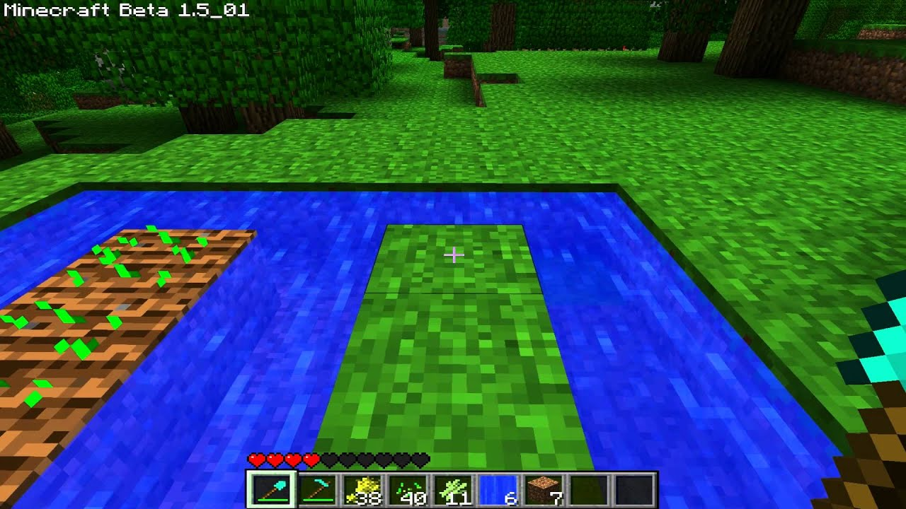 Minecraft: How to make farm (Farmland, Crops, Sugar Canes ...