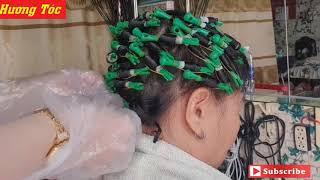 Hướng dẫn uốn tóc ngang ngắn xoăn lạnh ( uốn tóc ngang ngắn xoăn lạnh ) - tại Hương tóc
