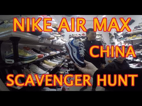 NIKE AIR MAX SCAVENGER HUNT REPLICA MARKET GUANGZHOU CHINA. AIR MAX DAY / MONTH, FAKE SHOES SALE.