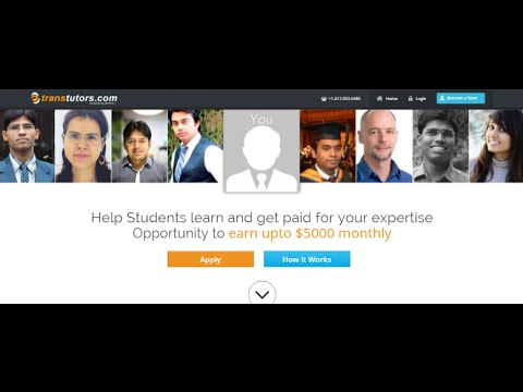 Online Tutoring - Earn Money from Home - Introduction to Tutor Panel