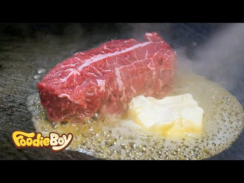 Oyster Blade Steak / Korean Street Food / Gambas Factory / Busan Korea / 스테이크 / 부산 해운대 감바스 팩토리