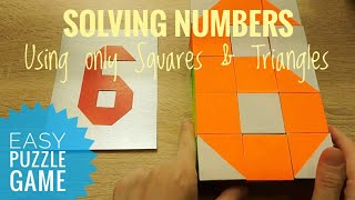 Numbers from 0 to 9 from the pattern blocks Educational puzzle game for kids Educational toy