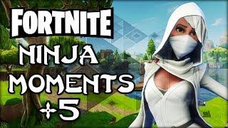 Fortnite Battle Royale: Ninja Moments #5 - Epic & Funny, Sniper No Scopes & More!