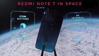 الهاتف Redmi Note 7 أول هاتف من شاومى يذهب للفضاء ويعود دون أى ضرر