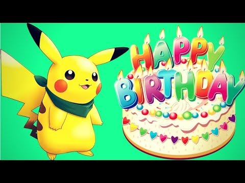 Happy birthday pokemon pikachu song 2018 youtube - Image pikachu ...