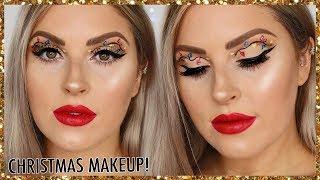Christmas Lights Makeup Tutorial! 🎄 EASY Christmas Glam