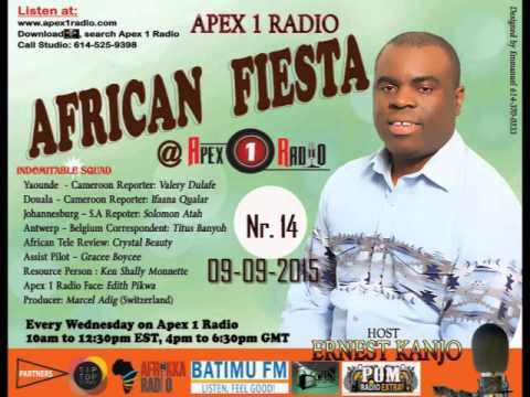 Apex 1 Radio : African Fiesta  Nr 14 -Radio Interview  with Angu Elizabeth