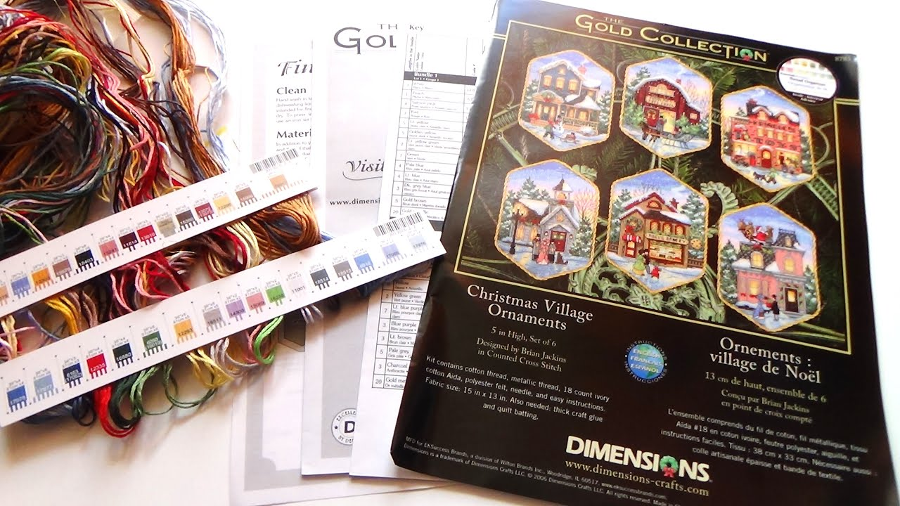 Инструкция по вышивке dimensions