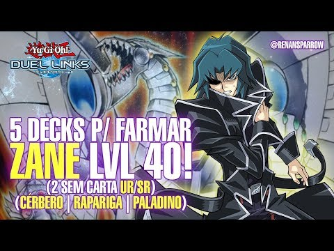 5 DECKS P/ FARMAR ZANE lvl 40 (2 SEM CARTA UR/SR)  - Yu-Gi-Oh! Duel Links #226