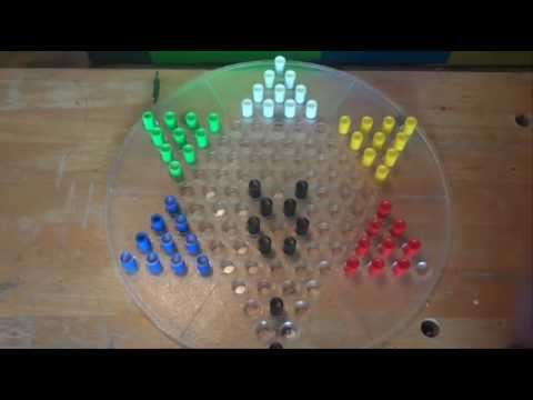 How to Move Quickly in Chinese Checkers - Starting Trick - Across the Board (at the start of game)