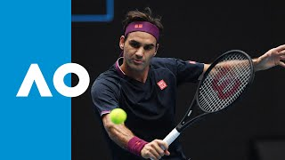 Steve Johnson vs. Roger Federer - Match Highlights | Australian Open 2020